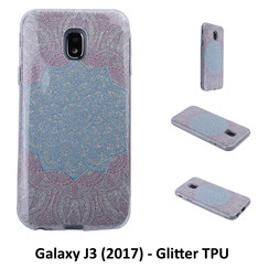 Unique motif Glitter flower Silikonhülle for Galaxy J3 (2017) Soft and durable