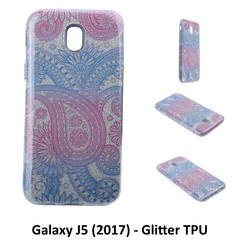 Unique motif Glitter flower Silikonhülle for Galaxy J5 (2017) Soft and durable