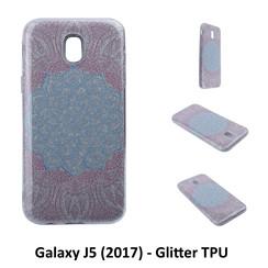 Uniek motief Glitter flower TPU Achterkant voor Samsung Galaxy J5 (2017) -Zacht en duurzaam - TPU