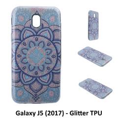 Motif unique Glitter flower Silikonhülle pour Galaxy J5 (2017) Doux et durable