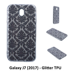 Unique motif Glitter flower Silikonhülle for Galaxy J7 (2017) Soft and durable