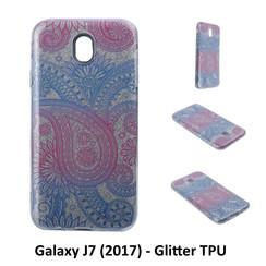 Motif unique Glitter flower Silikonhülle pour Galaxy J7 (2017) Doux et durable