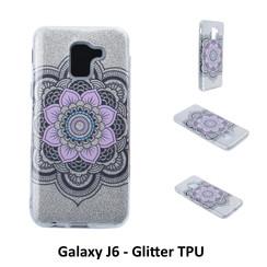 Motif unique Glitter flower Silikonhülle pour Galaxy J6 Doux et durable