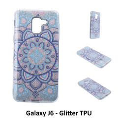 Unique motif Glitter flower Silikonhülle for Galaxy J6 Soft and durable