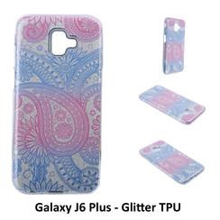 Motif unique Glitter flower Silikonhülle pour Galaxy J6 Plus Doux et durable