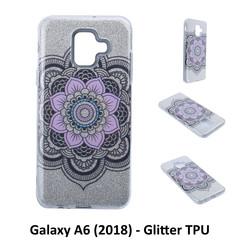 Uniek motief Glitter flower TPU Achterkant voor Samsung Galaxy A6 (2018) -Zacht en duurzaam - TPU