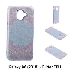 Motif unique Glitter flower Silikonhülle pour Galaxy A6 (2018) Doux et durable