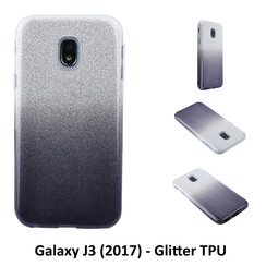 Gradient Black Glitter Silikonhülle for Galaxy J3 (2017) Soft and durable