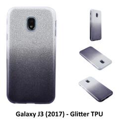 Kleurovergang Zwart Glitter TPU Achterkant voor Samsung Galaxy J3 (2017) -Zacht en duurzaam - TPU
