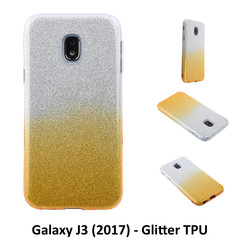 Gradient Gold Glitter Silikonhülle for Galaxy J3 (2017) Soft and durable