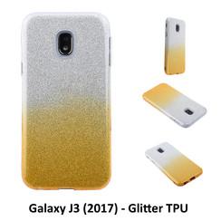 Kleurovergang Goud Glitter TPU Achterkant voor Samsung Galaxy J3 (2017) -Zacht en duurzaam - TPU