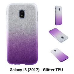 Gradient Purple Glitter Silikonhülle for Galaxy J3 (2017) Soft and durable