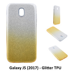Kleurovergang Goud Glitter TPU Achterkant voor Samsung Galaxy J5 (2017) -Zacht en duurzaam - TPU