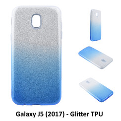 Gradient Blue Glitter Silikonhülle for Galaxy J5 (2017) Soft and durable