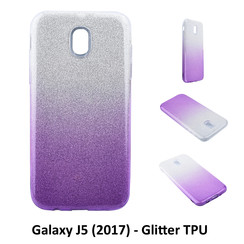 Gradient Purple Glitter Silikonhülle for Galaxy J5 (2017) Soft and durable