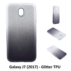 Gradient Black Glitter Silikonhülle for Galaxy J7 (2017) Soft and durable