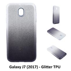 Kleurovergang Zwart Glitter TPU Achterkant voor Samsung Galaxy J7 (2017) -Zacht en duurzaam - TPU