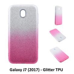 Dégradé Rose Glitter Silikonhülle pour Galaxy J7 (2017) Doux et durable
