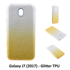 Gradient Gold Glitter Silikonhülle for Galaxy J7 (2017) Soft and durable