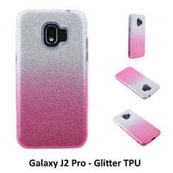 Gradient Pink Glitter Silikonhülle for Galaxy J2 Pro Soft and durable