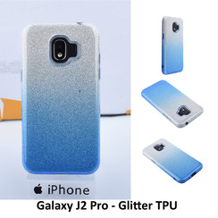 Gradient Blue Glitter Silikonhülle for Galaxy J2 Pro Soft and durable