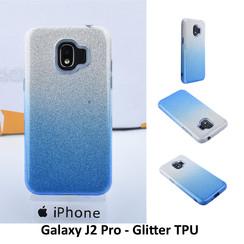 Kleurovergang Blauw Glitter TPU Achterkant voor Samsung Galaxy J2 Pro -Zacht en duurzaam - TPU