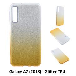 Dégradé Or Glitter Silikonhülle pour Galaxy A7 (2018) Doux et durable