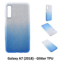 Dégradé Bleu Glitter Silikonhülle pour Galaxy A7 (2018) Doux et durable