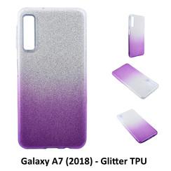 Dégradé Violet Glitter Silikonhülle pour Galaxy A7 (2018) Doux et durable