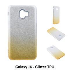 Dégradé Or Glitter Silikonhülle pour Galaxy J4 Doux et durable