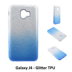 Dégradé Bleu Glitter Silikonhülle pour Galaxy J4 Doux et durable