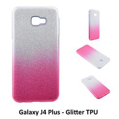Dégradé Rose Glitter Silikonhülle pour Galaxy J4 Plus Doux et durable