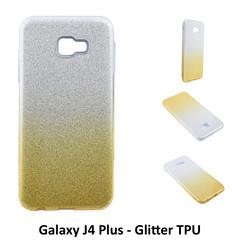 Dégradé Or Glitter Silikonhülle pour Galaxy J4 Plus Doux et durable