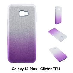 Dégradé Violet Glitter Silikonhülle pour Galaxy J4 Plus Doux et durable