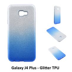 Dégradé Bleu Glitter Silikonhülle pour Galaxy J4 Plus Doux et durable