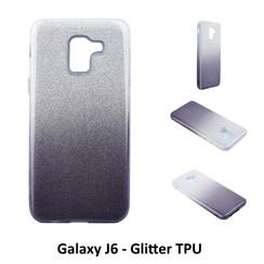 Dégradé Noir Glitter Silikonhülle pour Galaxy J6 Doux et durable