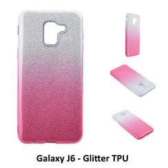Dégradé Rose Glitter Silikonhülle pour Galaxy J6 Doux et durable