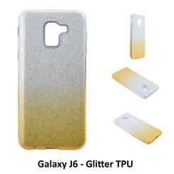 Dégradé Or Glitter Silikonhülle pour Galaxy J6 Doux et durable
