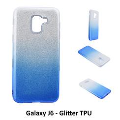 Dégradé Bleu Glitter Silikonhülle pour Galaxy J6 Doux et durable
