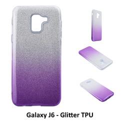 Dégradé Violet Glitter Silikonhülle pour Galaxy J6 Doux et durable