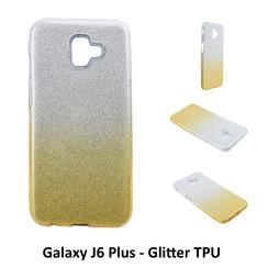 Dégradé Or Glitter Silikonhülle pour Galaxy J6 Plus Doux et durable