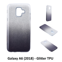 Dégradé Noir Glitter Silikonhülle pour Galaxy A6 (2018) Doux et durable