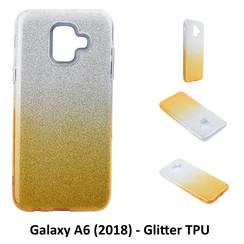 Kleurovergang Goud Glitter TPU Achterkant voor Samsung Galaxy A6 (2018) -Zacht en duurzaam - TPU