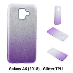 Kleurovergang Paars Glitter TPU Achterkant voor Samsung Galaxy A6 (2018) -Zacht en duurzaam - TPU