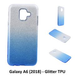 Kleurovergang Blauw Glitter TPU Achterkant voor Samsung Galaxy A6 (2018) -Zacht en duurzaam - TPU