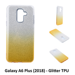Gradient Gold Glitter Silikonhülle for Galaxy A6 Plus (2018) Soft and durable