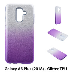 Gradient Purple Glitter Silikonhülle for Galaxy A6 Plus (2018) Soft and durable