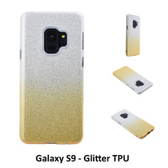 Gradient Gold Glitter Silikonhülle for Galaxy S9  Soft and durable