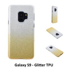 Kleurovergang Goud Glitter TPU Achterkant voor Samsung Galaxy S9  -Zacht en duurzaam - TPU