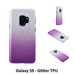 Kleurovergang Paars Glitter TPU Achterkant voor Samsung Galaxy S9  -Zacht en duurzaam - TPU